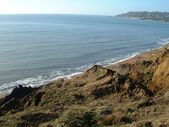 Charmouth landslip